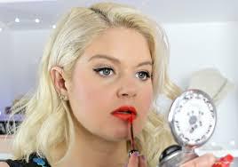 modern betty dr makeup look tutorial mad men finale 60s makeup