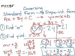 rewrite an equation in slope intercept form math algebra solver app mathway trig for grade
