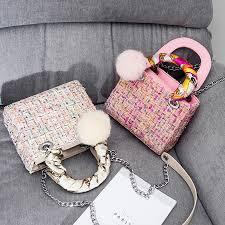 Pom Pom Purse Designer Us 23 87 46 Off Vantage Wool Women Handbags Pompom Ribbons Women Messenger Bags Famous Brands Designer Women Tote Solid Color Crossbody Bags New In