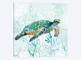sea turtle canvas wall art