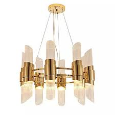 qihengzhaoming candle style chandelier ambient light electroplated metal glass city view 110 120v 220 240v warm white cold white bulb included g4