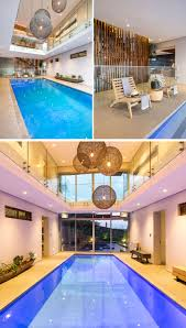 indoor swimming pool lighting. The Layout Of House Has Been Designed Around Indoor Swimming Pool, With Hanging Pendant Lights Making Most Impact Here. Pool Lighting I