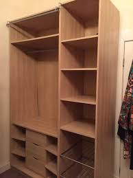 Ikea Shoe Drawers 2 X Ikea Tall Bedroom Storage Wardrobes With Clothes Rail Drawers