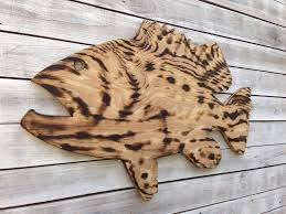 large goliath grouper wooden sign outdoor fish beach house decor wood fish wall art housewarming gift idea