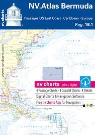 Chart Of Caribbean Islands Reg 16 1 Nv Atlas Bermuda Passages From Us East Coast Caribbean Europe