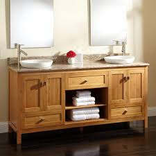 Bamboo Bathroom Sink 72 Alcott Bamboo Double Vanity For Semi Recessed Sinks Bathroom