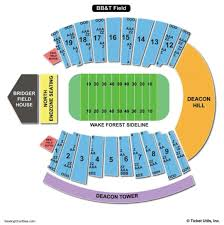 Wake Forest Stadium Seating Chart 50 Valid Bb T Seating Chart For Concerts