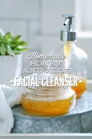 homemade honey and aloe cleanser