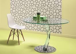 tonelli brat round glass dining table