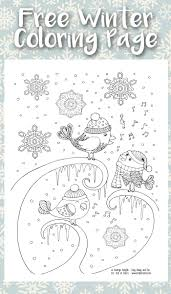 Small Picture Singing Birds Winter Coloring Page for Adults Trail Of Colors