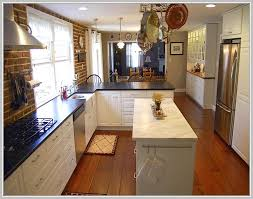 small square kitchen design with island. Perfect Small Long Narrow Kitchen Island Table In Small Square Design With L