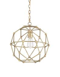 currey company geometric dome chandelier in antique brass