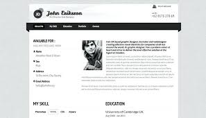 Photo Website Templates Simple Resume Web Template Inspiration Classy A Personal Category Bootstrap