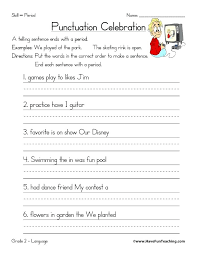 Free Kindergarten Punctuation Download Clip Art Worksheets ...
