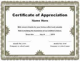 Employee Appreciation Certificate Templates Bkperennials