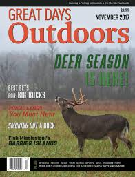 Whitetail Deer Feeding Chart Great Days Outdoors November 2017 By Trendsouth Media Issuu