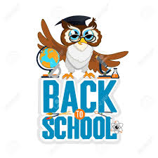 Back To School Invitation Template Back To School Color Background With Owl Vector Invitation Template