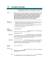 Gallery Of Resume Samples For College Applications College Student