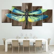 Colored dragonfly HD Wallpapers <b>5 Panels HD</b> Print Wall Art ...