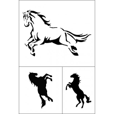 šablona Samolepící Flexi Koně 12x18cm