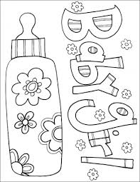 Artistic or educative coloring pages ? Baby Shower Coloring Pages Coloring Rocks