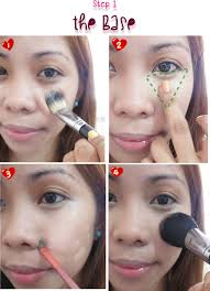 apply a foundation that best suits your skin tone you can use a brush sponge or foundation routine how