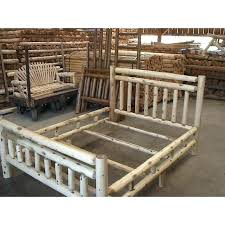 Aspen New Bedford Login Gnarly Log Bed Queen Frames White Cedar ...