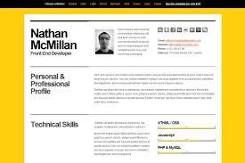 Html Resume Templates Html Resume Templates To Help You Land A Job Template