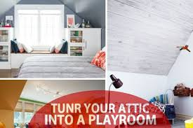 turn the attic into a perfect play area