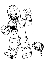 the lego zombie coloring pages