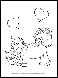 Feel free to print and color from the best 40+ coloring pages of cute unicorns at getcolorings.com. Cute As A Bow Unicorn Coloring Page Freebie The Art Kit