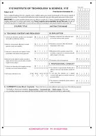 Sample Instructor Evaluation Form - Sarahepps.com -
