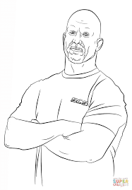 Small Picture WWE Stone Cold Steve Austin coloring page Free Printable