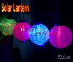 Amazoncom  Allsop Home And Garden Soji Solar String Lights Chinese Lantern Solar Lights