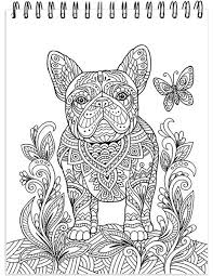 Small Picture Dog Coloring Book For Adults With Hardback Covers And Spiral