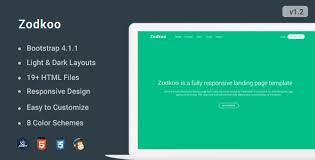 4 to a page template zodkoo responsive bootstrap 4 landing page template by coderthemes neo