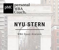 2019 2020 Nyu Stern Mba Essay Analysis