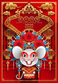 chinese new year card 2020 happy chinese new year 2020 year of the rat happy chinese