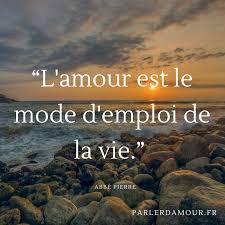 Lamour Est Le Mode Demploi De La Vie Citation Amour