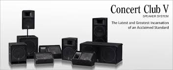 concert speakers system. the acclaimed concert club series advances to mark v speakers system -