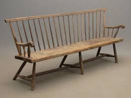 antique wooden bench. Antique Wood Bench 307 Best Colonial Furniture Chairs Armchairs Benches Stools And Wooden U