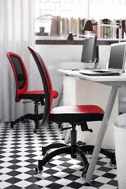 ikea small office. a small office with white desks drawer units shelf and swivel chairs in red ikea ikea