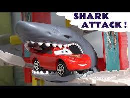 disney cars on matchbox shark escape toy thomas and friends hiro lightning mcqueen mater play set