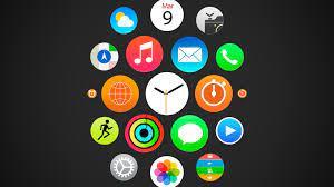 Wallpaper Apple watch, iWatch menu, ios ...