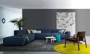 view in gallery coffee table in white stands out visually thanks to the bold couch in blue