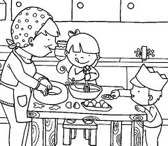 Small Picture Cooking with Mom in the Kitchen Coloring Pages Download Print
