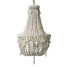 kunmai classic farmhouse distressed wood beaded basket 3 light chandelier in antique white gray antique white