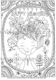 Poster Da Colorare Pensieri Felici Da Colorare Poster Per Etsy