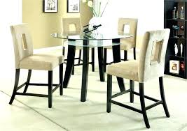 glass top pub table rectangular 5 piece dining set sets room round on pertaining
