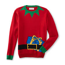 Men\u0027s Ugly Christmas Sweater - Elf